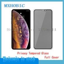 5 pièces couverture complète confidentialité verre trempé pour iPhone X XS Max XR 6 6S 7 8 Plus Anti espion protecteur décran Anti espion Film de protection