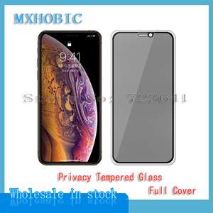 Image 1 - 5pcs Full Cover Privacy Tempered Glass For iPhone X XS Max XR 6 6S 7 8 Plus Anti Spy Screen Protector Anti spy Protective Film