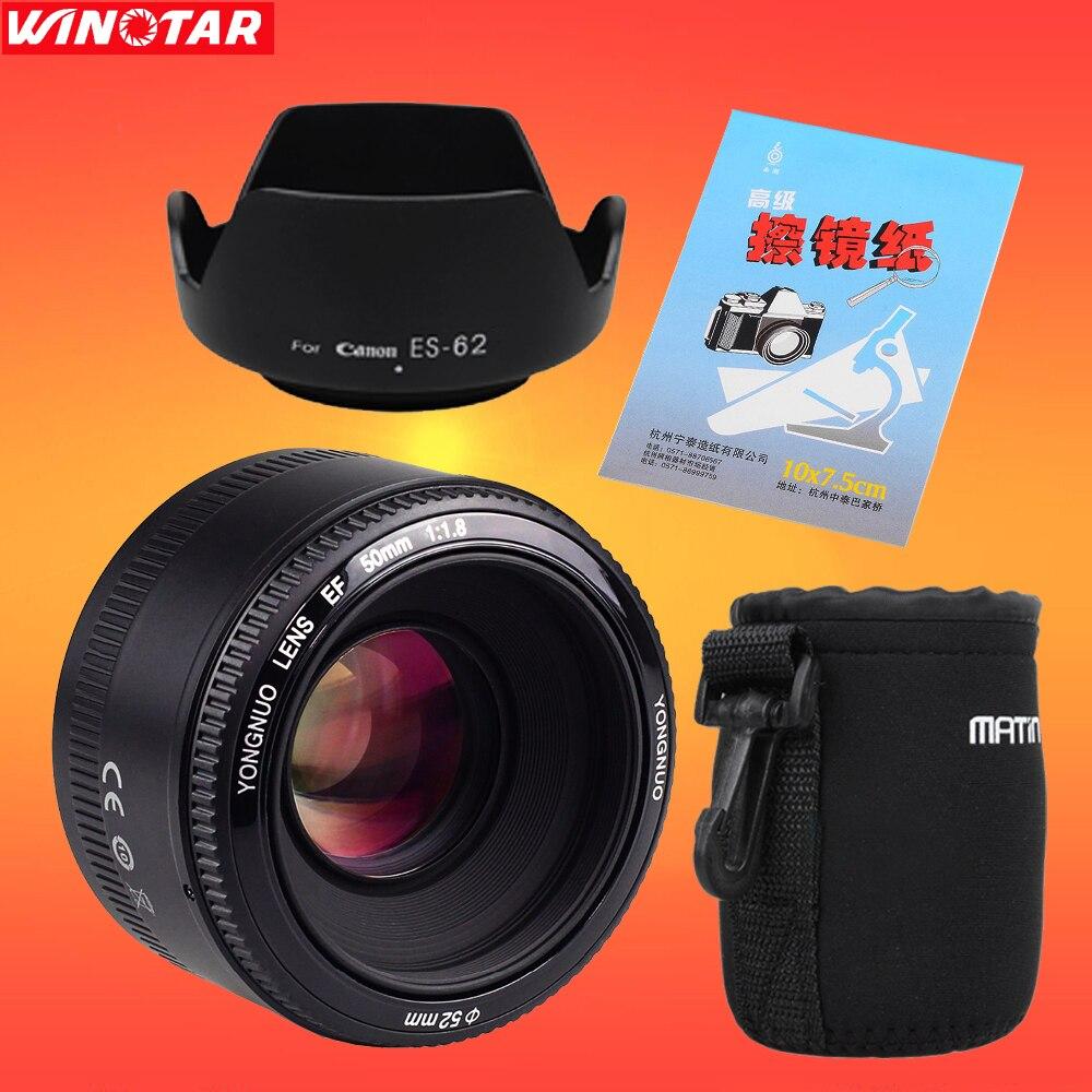 YONGNUO YN50mm f1.8 YN EF 50mm f/1.8 AF/MF Lens Large Aperture Auto Focus for Canon EOS DSLR Cameras
