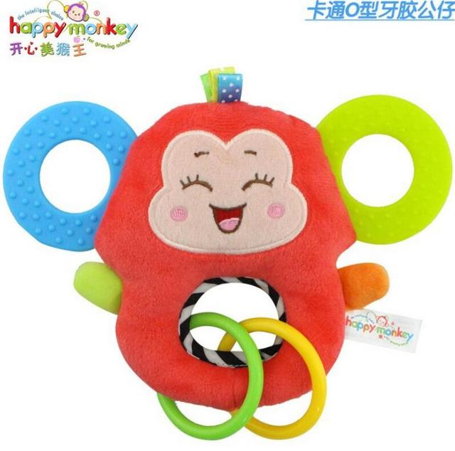 Baby Infant Cartoon Animal Giraffe Fish Handle Rattles Soft Plush Safety Teether Toys Teeth Care Doll For Kid 20%OFF 1