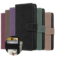 LUCKBUY For Sony Xperia E5 E6 XZ XZ1 XA1 Compact Ultra Premium Case Matte PU Leather Wallet for Z6 card slots