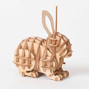 Image 5 - Laser Schneiden DIY Tier Katze Hund Panda Spielzeug 3D Holz Puzzle Spielzeug Montage Modell Holz Handwerk Kits Schreibtisch Dekoration für kinder Kid