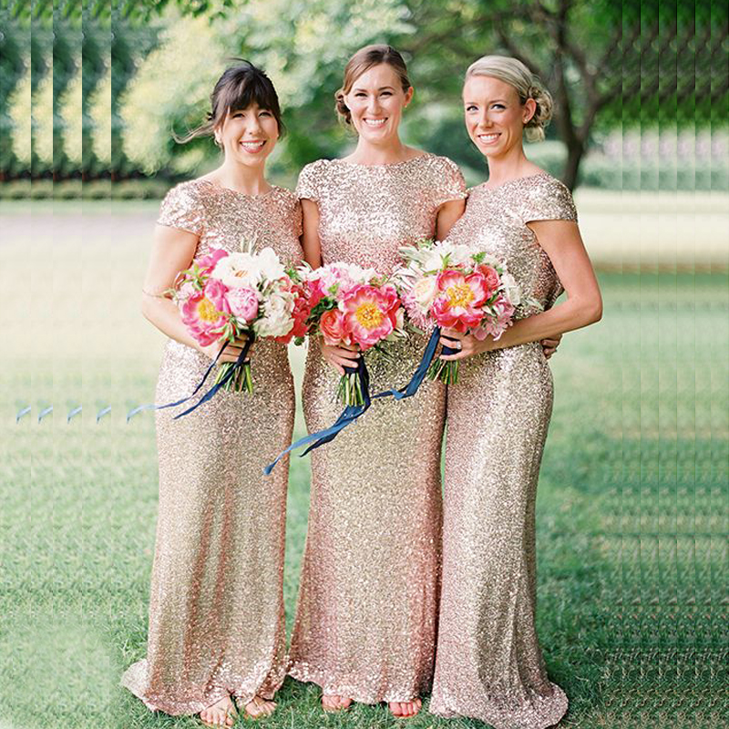 Cowl Back Bridesmaid Dress: New Mermaid Cowl Back Shiny Sequined Bridesmaid Dresses