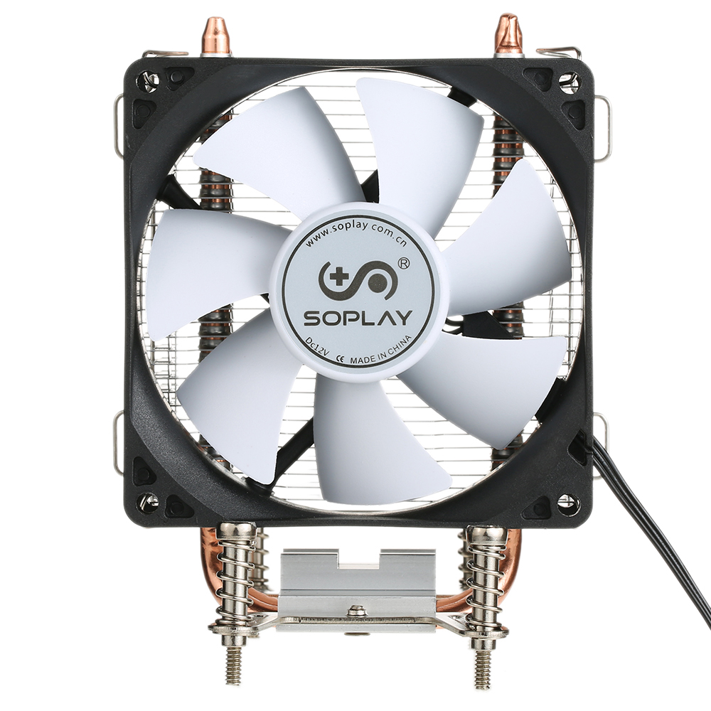 Original Soplay Cpu Cooler 2 Heatpipes 3pin 92cm Fan Pc Computer Processor Lga 775 For Intel 1150 1151 1155 1156 Amd Cooling Radiator In Fans From