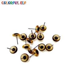 Frete grátis cor marrom olhos de vidro 100ps 3mm-12mm por atacado olhos de vidro em pinos de fio