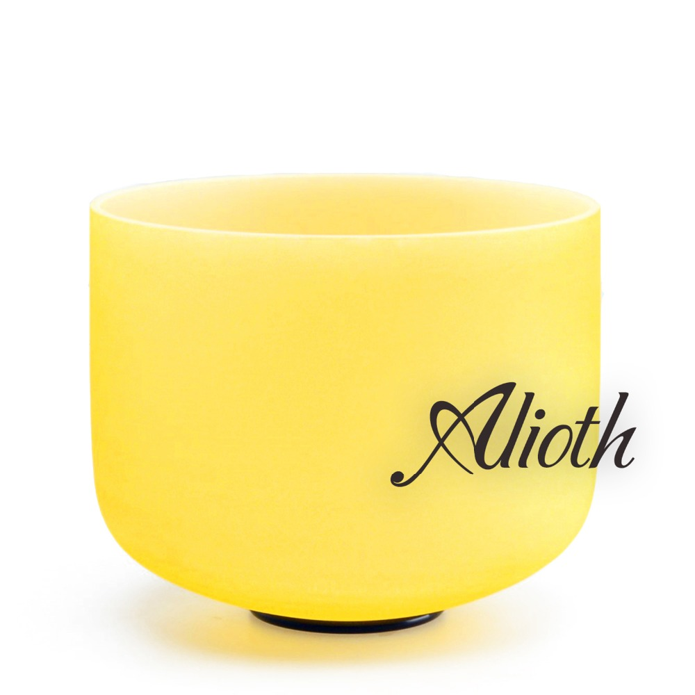 8 Inch Yellow Outside Colored E Note Crystal Singing Bowl for Solar Plexus Chakra Balancing/Yoga/Meditation/Sound Therapy8 Inch Yellow Outside Colored E Note Crystal Singing Bowl for Solar Plexus Chakra Balancing/Yoga/Meditation/Sound Therapy