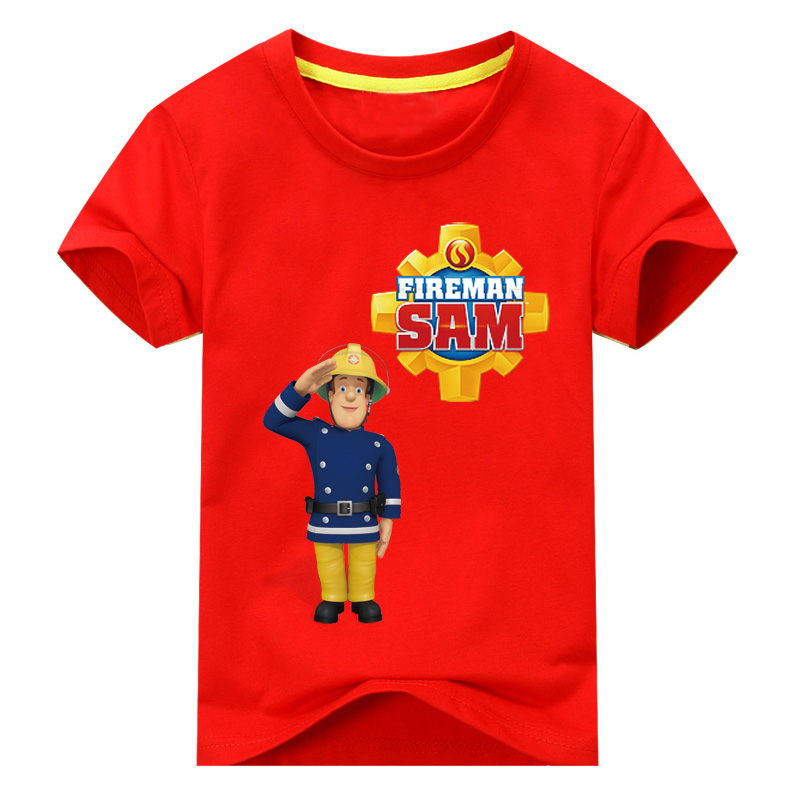 2017-Children-New-Cartoon-Design-Printing-100Cotton-T-shirts-Boy-Girls-Sam-Pattern-White-Tee-Tops-Clothes-Kids-Clothing-TP016-2