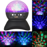 HWALER Disco DJ Party Bluetooth Speaker Built In battery Stage Effect Lighting RGB Color Changing LED Crystal Ball TF AUX FM