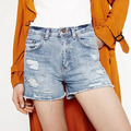 Summer Ripped Holes Denim Shorts Women Jeans Casual Slim Wide Leg Women Shorts Jeans High Waist Hot Shorts Plus Size EM1638-0827