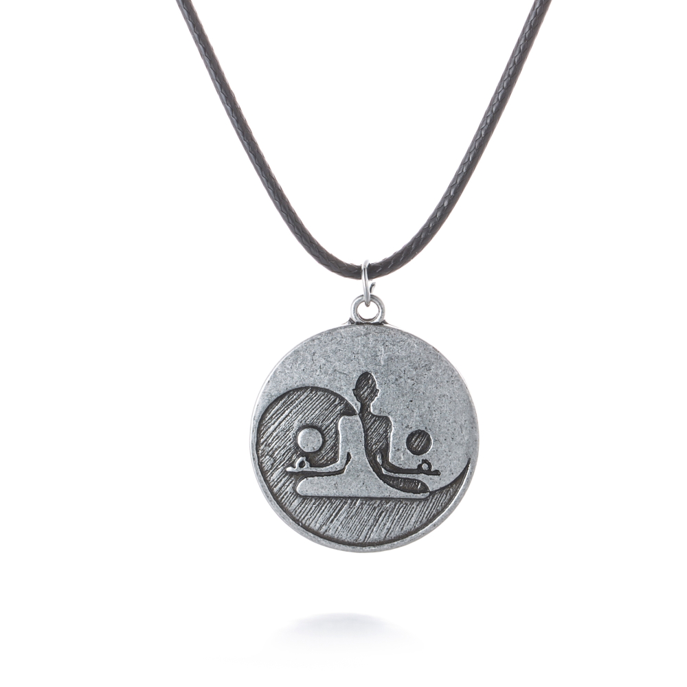 Yin Yang Taichi Meditation Necklace Pendant Yoga Charm Spiritual Power Necklaces Pendant Antique Silver Gift for Women