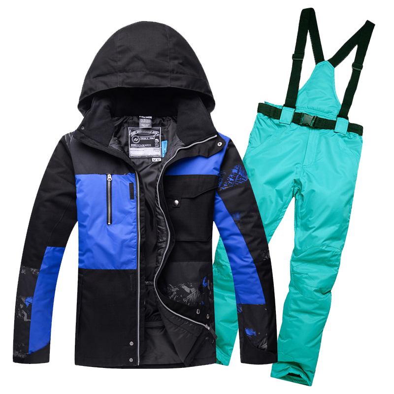 Free Shippin 2017 New Brand Ski Suit Men Skiing Snowboard Jacket and Pant Clothing skiing Suit Set Outdoor Winter Coats женская куртка oem pe3218 55 suit coats