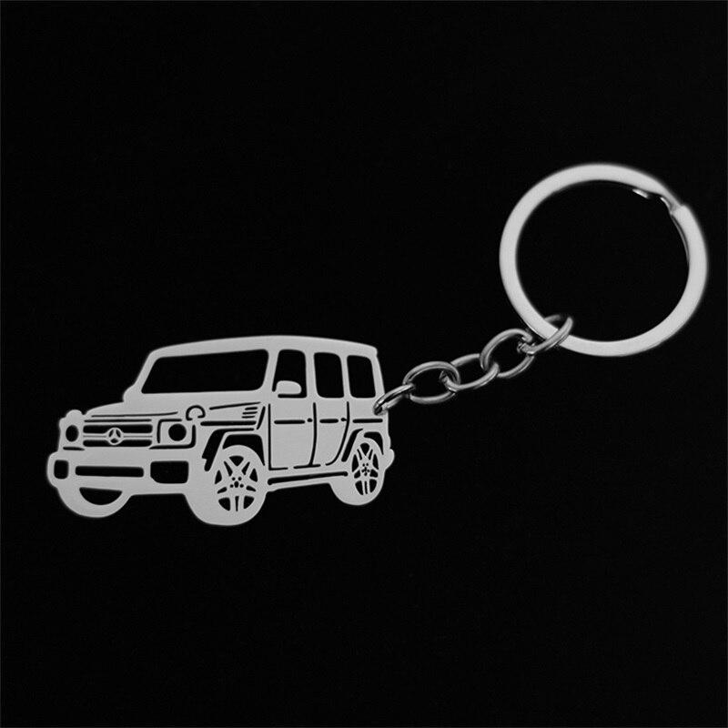 Dodge Grand Caravan Rectangular Black Car Key Chain Ring Fob Au-Tomotive Gold INC