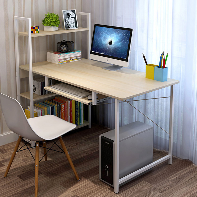 US $427.5 10% OFF|Aliexpress.com : Buy Desktop computer desk Household  contracted economy Bedroom desk Bookshelf Simple student Desk from Reliable  ...