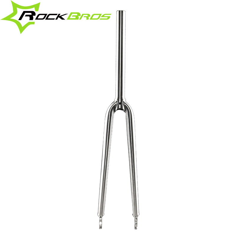 ROCKBROS Titanium Alloy 700C Road Bike Rigid Fork Ti Straight Fork 1-1/8 Bike Parts Bicycle Fork