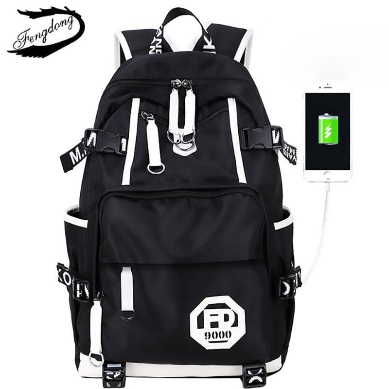 Printed Anti Theft Laptop Men Backpack Multifunction Travel Rucksack Man Shoulder Bag Waterproof Student School Bag Male Bagpack