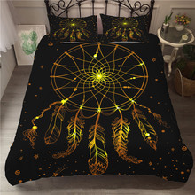 Bedding Set 3D Printed Duvet Cover Bed Dreamcatcher Bohemia Home Textiles for Adults Bedclothes with Pillowcase #BMW14