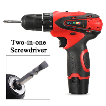 Cost Effective DC 12V Power Drills Two Speed Electric Screwdriver 2 Batteries 1 Charger Screw Driver Tools Kit Repair Tool