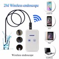 Wifi Endoscope Camera Control Wide Angle Hidden Dedicated Digital Video Recorder USB LED Microscope 2 Meter Borescope