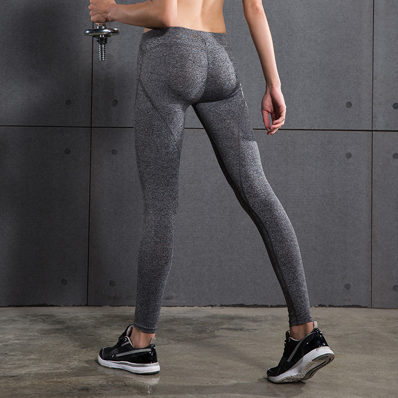 Womens Compression Yoga Pants Fitnnes Tights Push up Sexy hips Solid Leggings Yoga Pants Quick Dry Elastic Trousers