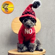 Индивидуальный дизайн Одежда для питомцев, собачий толстовки Осень Зима стильный товары для собак Одежда отдыха Vestidos Pet Одежда ручной работы