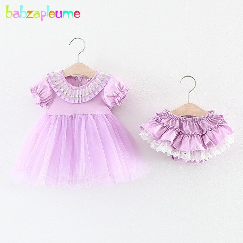 babzapleume summer baby girls clothes pink cute short sleeve t-shirt+shorts 1st birthday newborn clothing sets 2pcs suits BC1395