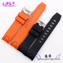 20mm 22mm NEW Men s Black DIVER Rubber watchband strap bracelets