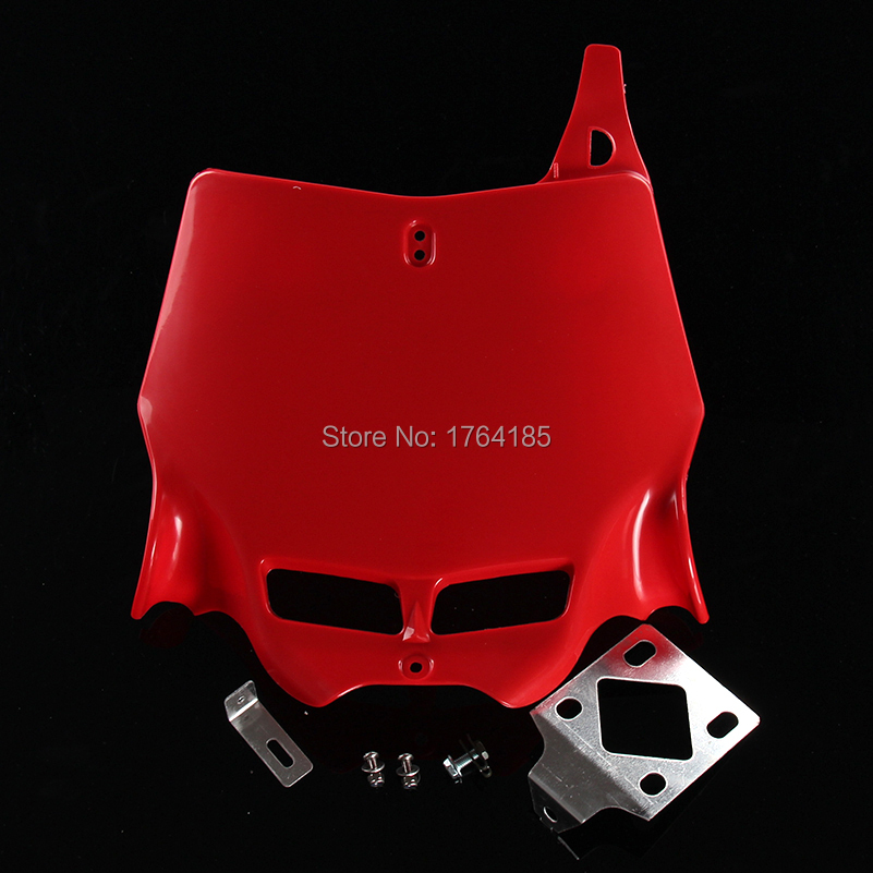 free shipping red Universal 250CC 450CC Dirt Pit Bike MX Motocross refitting front Number Plate