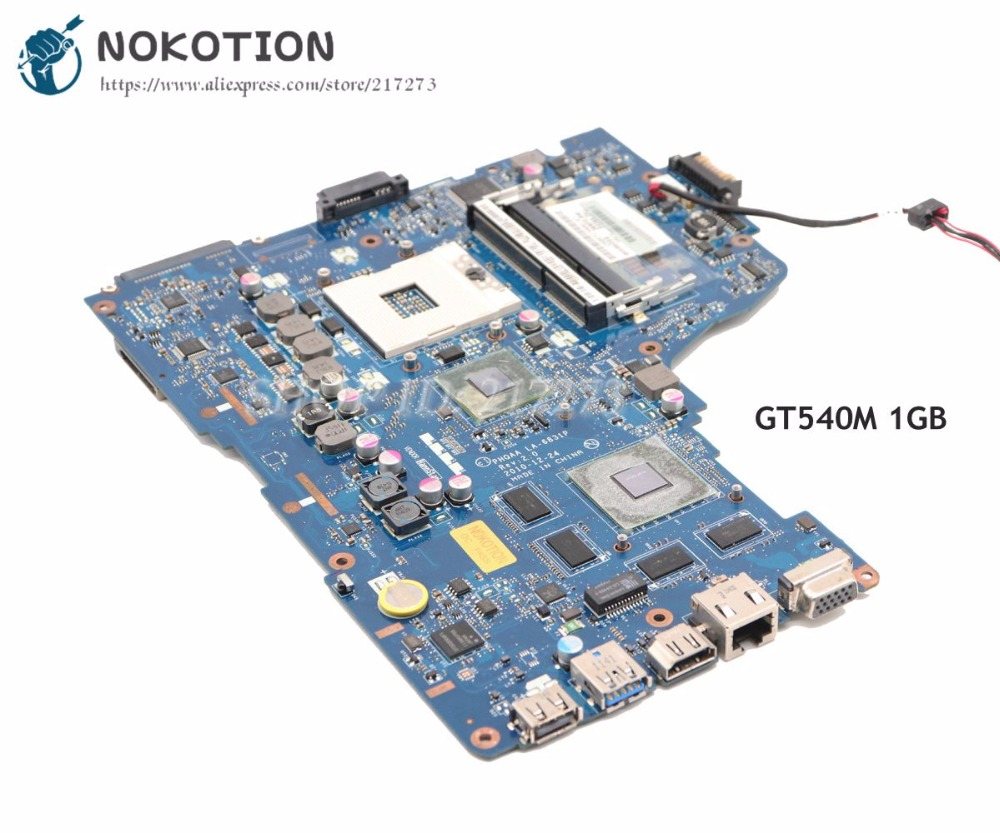NOKOTION K000121720 PHQAA LA-6831P Main Board For Toshiba Satellite P750 P755 Laptop Motherboard GT540M HM65 DDR3
