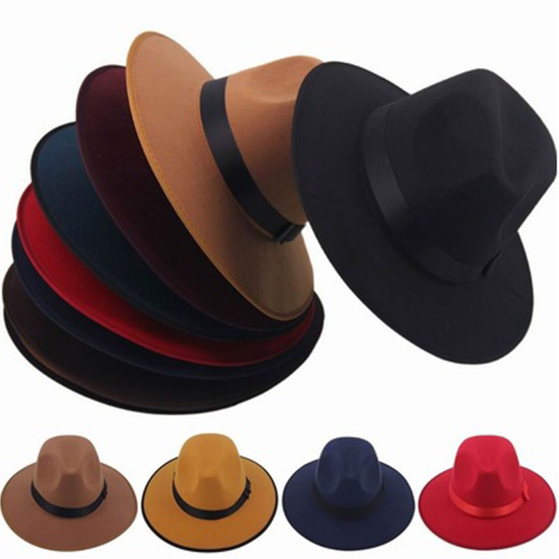 1pc Unisex Vintage Blower Jazz Hat Women Men Casual Trendy Beach Sunhats Straw Panama Cap Cowboy