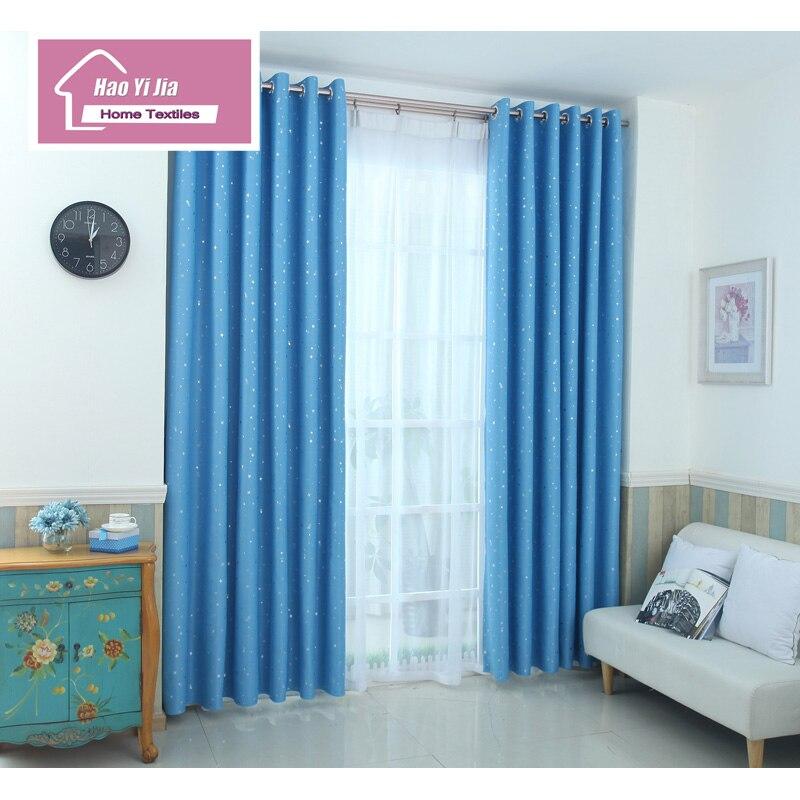 Blau Vorhang Schatten Vorhang Fünf Farbe Star Design Schwarz Vorhang ...