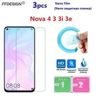 Nano Pellicola Protettiva Per Huawei Nova 4 3 3i 3e (Non di Vetro) protezione dello schermo Per Huawei Nova 3 3i 3e 4 2 Foglio di Protezione Dello Schermo