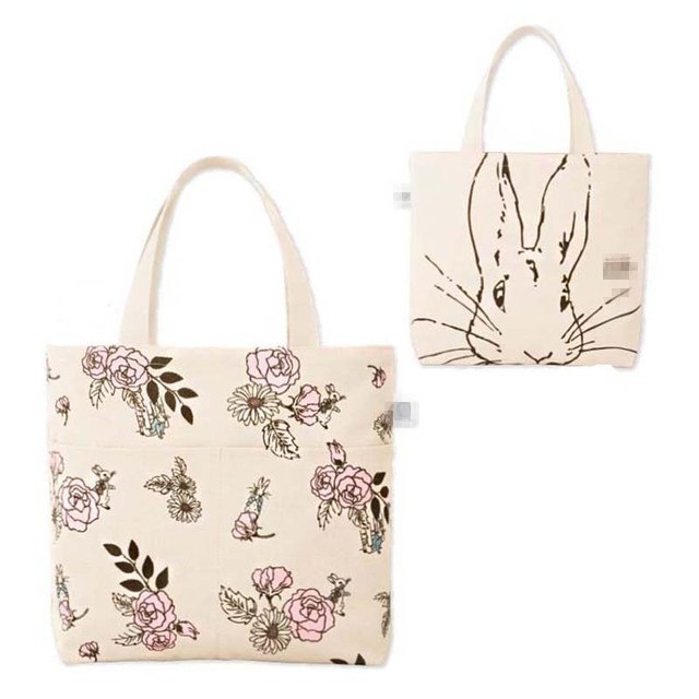 Free Shipping Casual Canvas Shopping Bags Beige Color with Animal and flower Women Handbags Shoulder Bags GZJ003