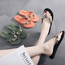 2019 New Fashion Women Slippers Crystal Flip Flops Flat Shoes Spring/Summer Female Shoes Casual Lady Shoes Woman Footwear hot sale 2016 summer woman shoes rhinestone flat woman shoes fashion casual shoes wild concise female flip flops dt194