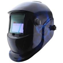 Синий череп краска Солнечная авто затемнение TIG MIG ММА электрический сварочные маски/шлем/сварщик колпачок для сварочного аппарата или плазменный резак