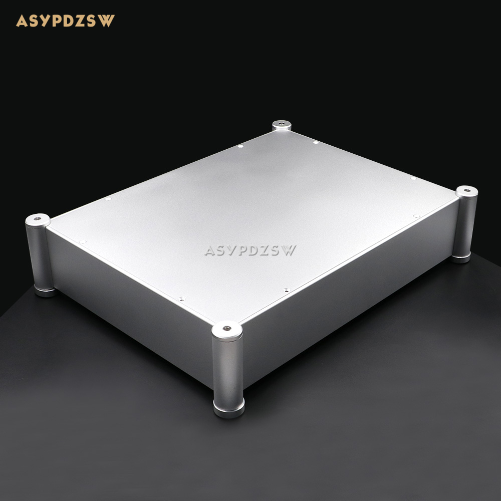 4308T Full aluminum Rounded Enclosure AMP case Preamp chassis DAC/PSU box wa60 full aluminum amplifier enclosure mini amp case preamp box dac chassis