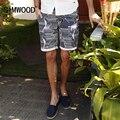 2016 New Arrival Homens Simwood Roupas Slim Fit Striped Casual Bolso da Calça de Algodão Plus Size Frete Grátis KD5003