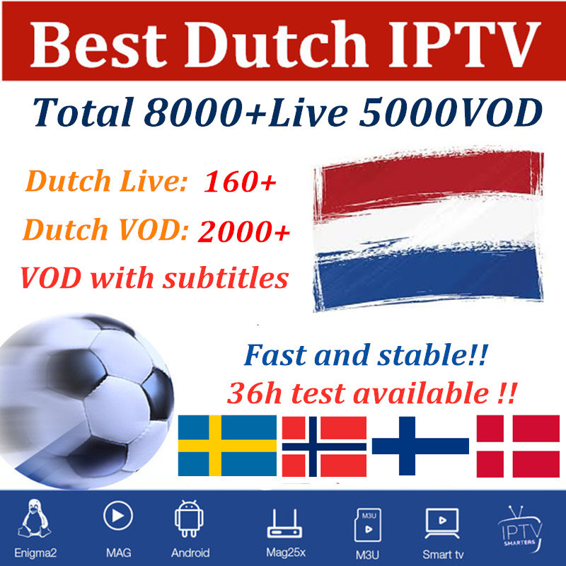 Dutch IPTV Sweden Spain Arabic Smart Iptv Subscription Portugal French Belgium German M3u For Android Box Fhd Quality 7000 Live