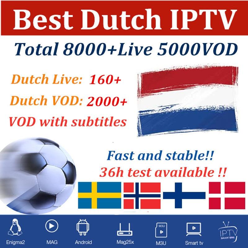 Dutch IPTV Sweden Spain Arabic Smart Iptv Subscription Portugal French Belgium German M3u For Android Box Fhd Quality 7000 Live