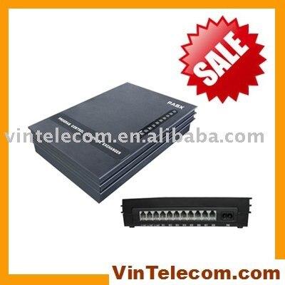 Système téléphonique VinTelecom SV308 de haute qualité système téléphonique de bureau 3 et 8 pouces/Mini PABX/pbx-hote vendre