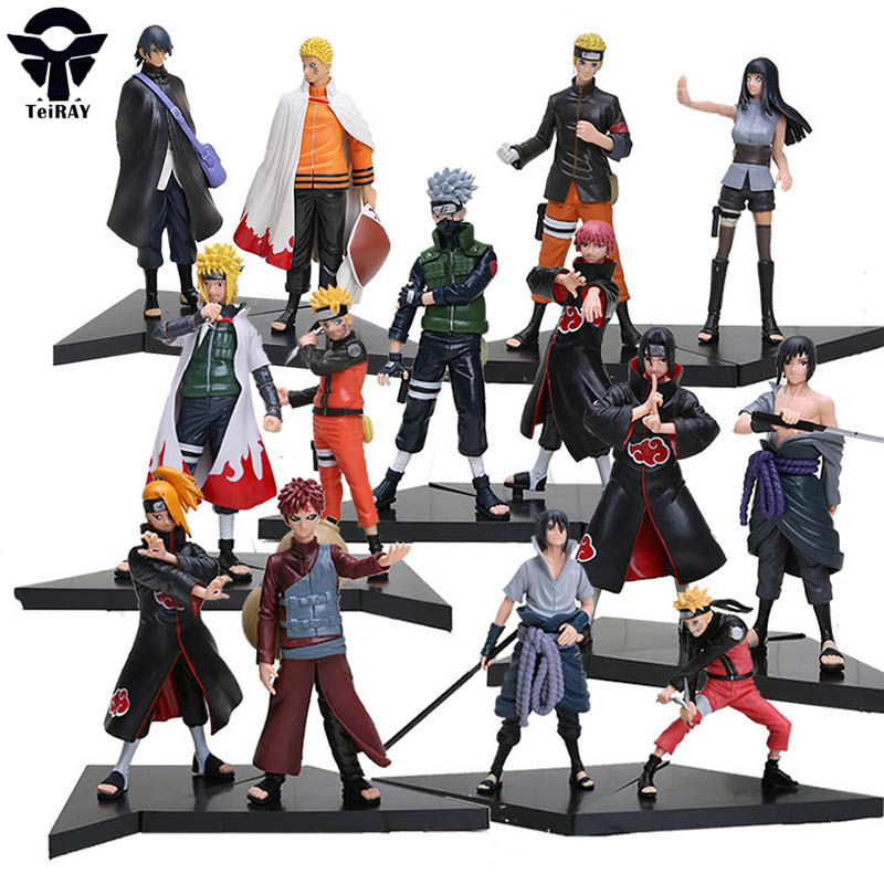 2pcs set Naruto Shippuden Action Figure Toy Japanese Anime Kakashi Uchiha Sasuke Uchiha itachi game PVC Figures Collection Dolls 6pcs lot 7cm naruto action figure set q edition toy naruto japan anime figures model toy set action toys