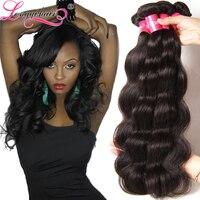 7A Grade 3PCS Lot Malaysian Virgin Hair Weaves Unprocessed Malaysian Body Wave Human Hair Weave Wavy Xuchang Longqi Beauty Hair