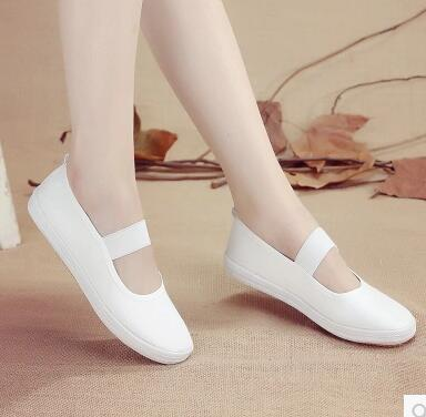 New Flats Canvas Shoes Woman Casual Solid Slip-On Spring/Autumn Small White Shoes Gymnastics Practice Dance Ballet Shoes