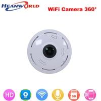 Heanworld 360 Degree smart webcam Mini wireless camera 960P wifi Night Vision support P2P two way audio CCTV IP cam