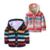 Niños Suéter Grueso Encapuchado de 12 M a 4 T de Algodón de rayas de Un Solo Pecho Suéter de Otoño Invierno Bebé, Niña, Niño Ropa de los niños