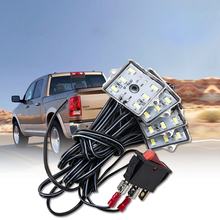 1 set Universal White Waterproof Support Flashlights LED Bed Light Rear Box Lamp Combination With 8 Block for Truck Van Pickup