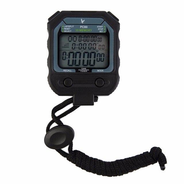 Digital Profissional Atletismo Cronômetro temporizador alarme 3 Linhas 100  Voltas 1 1000 segundo Esporte cronômetro 8087fba7ea492