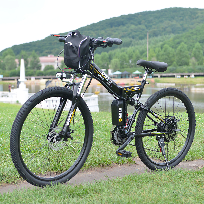 Bicicleta Eléctrica bicicleta eléctrica de gran alcance bolsa delantera 48 V 12AH 500 W eBike montaña 24 velocidad bicicleta eléctrica Rusia envío libre