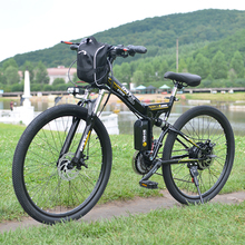 Электрический велосипед мощный электрический велосипед Передняя сумка 48 В 12AH 500 Вт mountain eBike 24 скорости Электрический велосипед России Бесплатная доставка