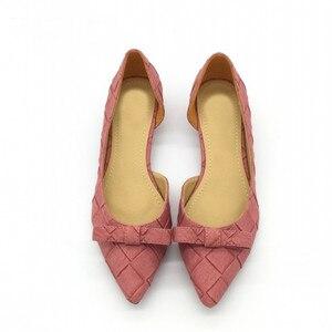 Image 2 - BEYARNE Toe Women Bowtie Pumps Spring Autumn Slip On Woman DOrsay Low Heel Pumps Shoes Ladies Spike Heels Single Shoes
