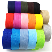5 yards 25mm Canvas Webbing Bag Belt Ribbon Nylon Webbing Knapsack Strapping Sewing Bag Belt Accessories